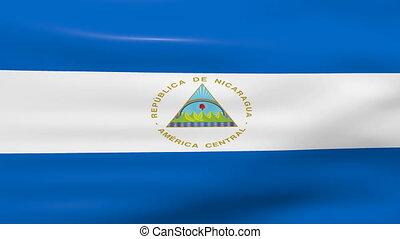 Waving Nicaragua Flag, ready for seamless loop.