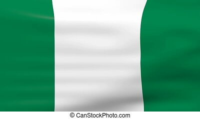 Waving Nigeria Flag
