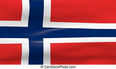 Waving Norway Flag