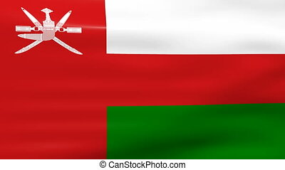 Waving Oman Flag, ready for seamless loop.