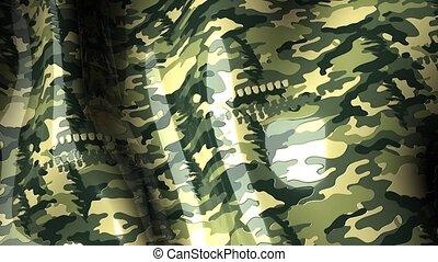 Waving pattern Camouflage - Waving animation with pattern,...