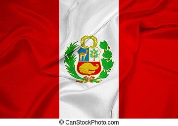 Waving Peru Flag