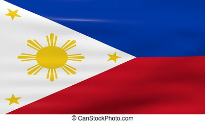 Waving Philippines Flag, ready for seamless loop.