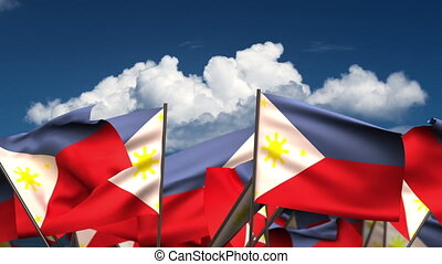 Waving Philippines Flags