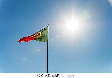 Waving Portuguese flag