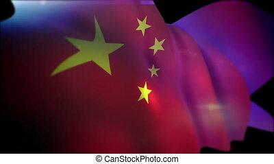 """""""waving, powolny, chorągiew, chińczyk, motion"""""""