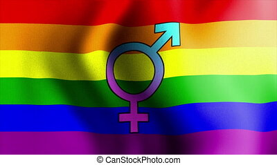 waving rainbow flag bisexual - Rainbow Flag Series 1: A nice...