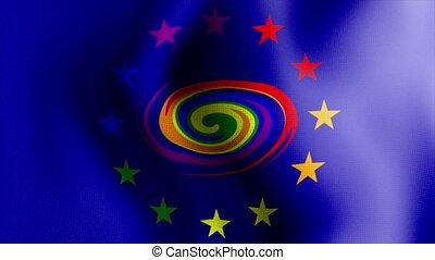 waving rainbow flag2 - Rainbow Flag Series 1: A nice blue...