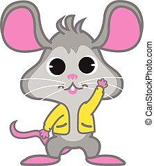 waving, rato, vetorial