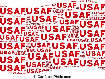Waving Red Flag Mosaic of USAF Text Items - Waving red flag...