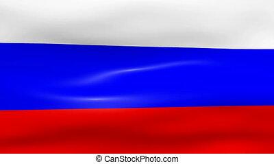 Waving Russia Flag