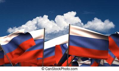 Waving Russian Flags