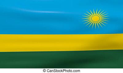 Waving Rwanda Flag, ready for seamless loop.