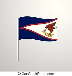 waving, samoa americana, bandeira