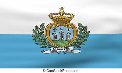 Waving San Marino Flag