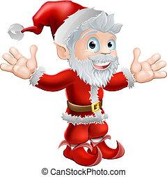 waving, santa