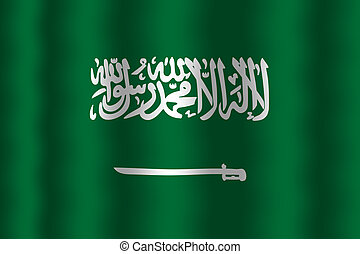 Waving Saudi Arabia Flag