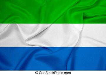 Waving Sierra Leone Flag