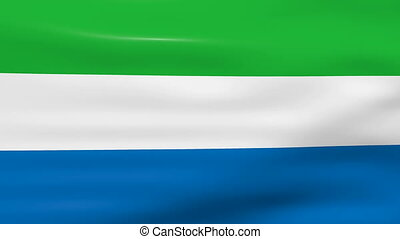 Waving Sierra Leone Flag, ready for seamless loop.