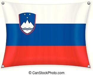 Waving Slovenia flag