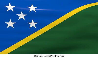 Waving Solomon Islands Flag