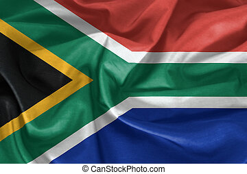 Waving South Africa Flag
