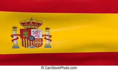 Waving Spain Flag