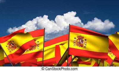 Waving Spanish Flags
