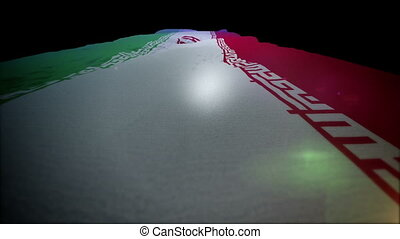 """Waving Standard of Iran Rising Up "" - ""Energetic 3d..."