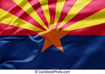Waving state flag of Arizona - United States of America