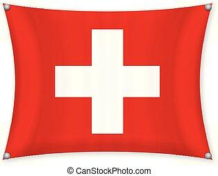 Waving Switzerland flag