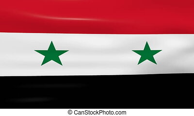 Waving Syria Flag, ready for seamless loop.