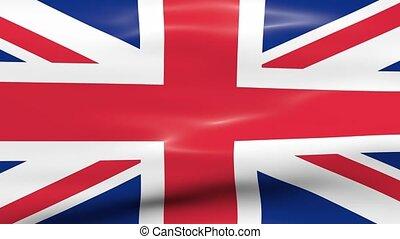 Waving UK Flag