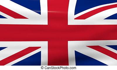 Waving UK Flag, loop ready.
