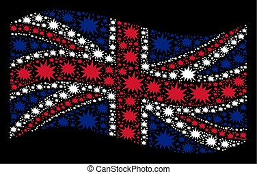 Waving UK Flag Pattern of Bang Items