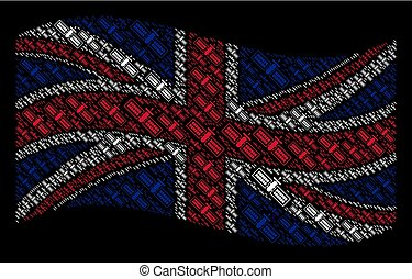 Waving UK Flag Pattern of Satellite Items
