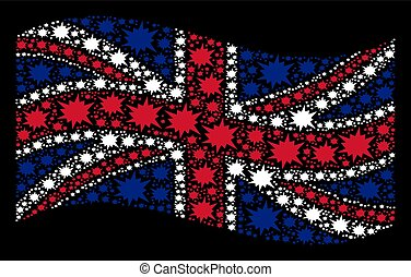 Waving United Kingdom Flag Pattern of Bang Items