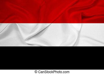 Waving Yemen Flag