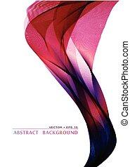 Wavy abstract bacground