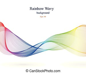 Wavy abstract background in rainbow colors.