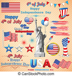 Wavy American Flag - illustration of wavy American Flag for ...