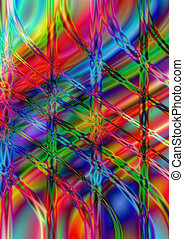 Wavy and perpendicular line on brig - Abstract shiny...