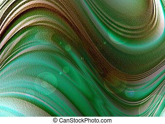 Wavy background with green blue sha - Abstract bright...