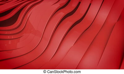 """""""Wavy band surface animation. Red color."""""""