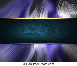 Wavy blue background with blue plate. Template for text and design