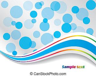 Wavy blue dots