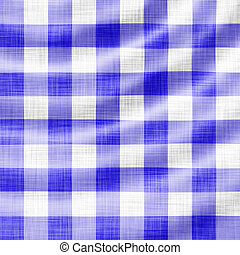 wavy blue picnic cloth