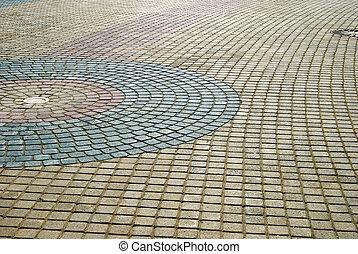 brick walkway - wavy brick walkway