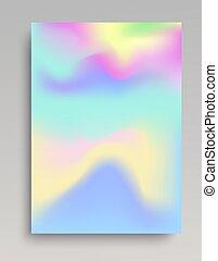 Wavy cold colored gradient backdrop