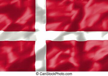 wavy dannish flag illustration - illustration of the wavy...